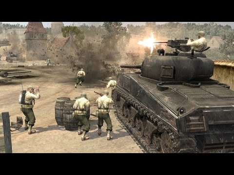 Company of heroes 1vs1 Automatch America vs Panzer Elite. Airbourne on Beaux Lowlands #21