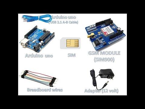Arduino uno with GSM module(SIM900)- Sending SMS - YouTube