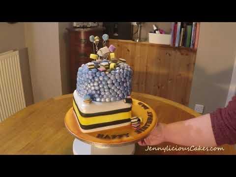 Liquorice Allsorts cake