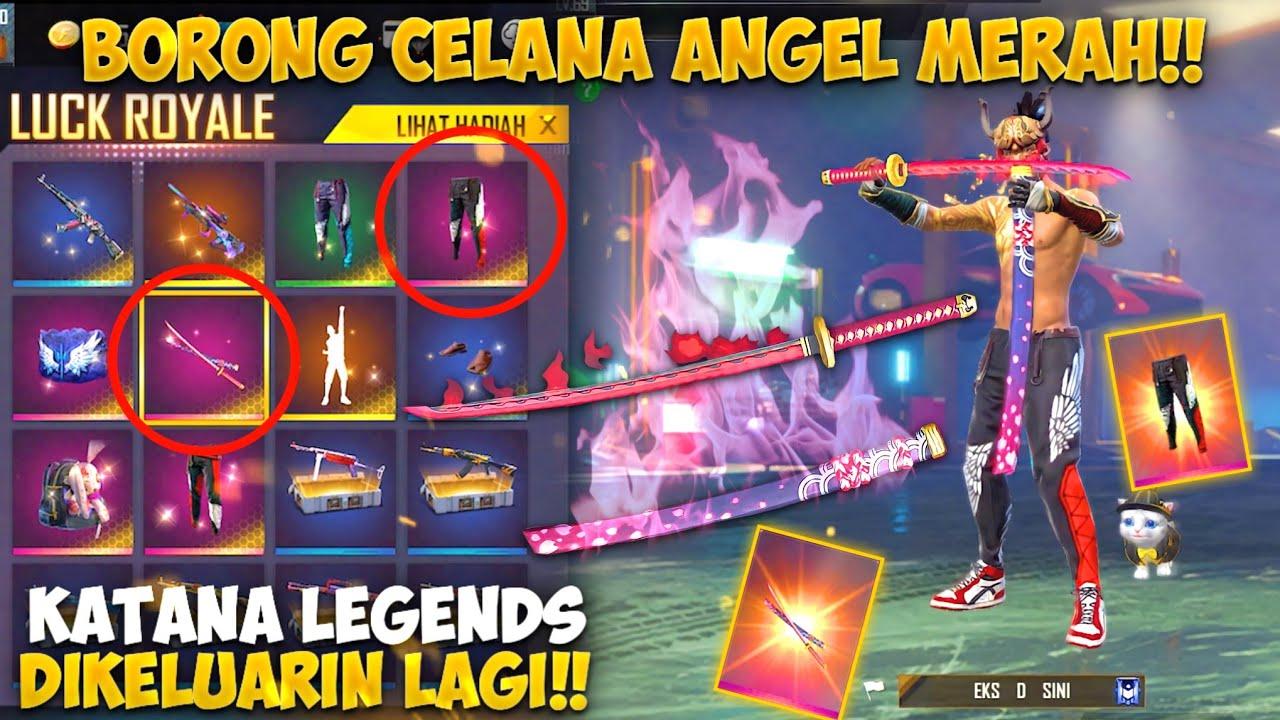 AKHIRNYA ANGEL MERAH RILIS + KATANA LEGEND DIKELUARIN LAGI!! GARENA BAIK BANGET AUTO BORONG SEMUA..