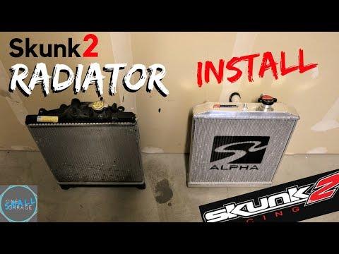 Skunk2 Alpha Radiator Install | Civic EK