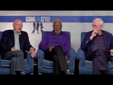 Legends Morgan Freeman, Michael Caine & Alan Arkin Talk GOING IN STYLE | Exclusive Interview