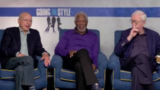 Legends Morgan Freeman, Michael Caine & Alan Arkin Talk GOING IN STYLE | Exclusive Interview