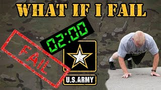 What if a soldier fails a physical fitness test?