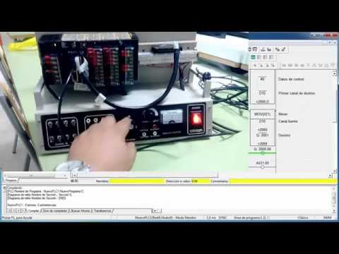 Omron CJ / CP1, ejercicio con Encoder y analógica MAD42