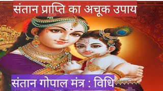 संतान गोपाल मंत्र : विधि ( santan gopal mantra vidhi / putra prapti mantra )