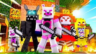 Circus Baby and Chica Play Bed Wars! Minecraft FNAF Roleplay