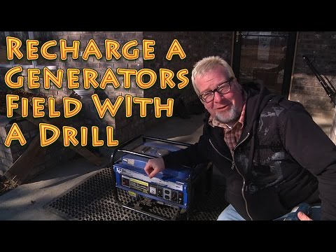 How to Fix a Generator - Recharge a Generators Field With a Drill -