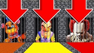 DO NOT OPEN THE WRONG PRISON(PENNYWISE, HELLO NEIGHBOR, FIVE NIGHTS AT FREDDYS)PS4/XboxOne/PE/MCPE)
