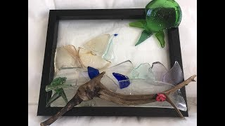SEA GLASS ART- How to Make Art Using Sea Glass