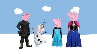Свинка Пеппа на Русском : Дисней Холодное Сердце /ENG