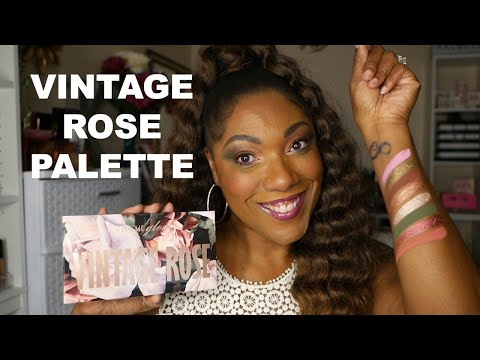 Give Me Glow VINTAGE ROSE PALETTE - 1st Impression - Eye Look & Swatches thumbnail