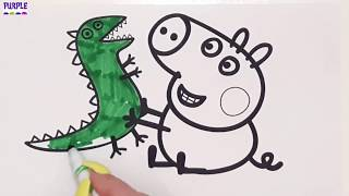 Brother George Coloring Book Drawing for Kids and Children Kids Video Surprise Toys Open