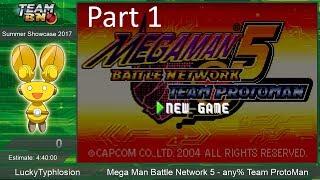 Mega Man Battle Network 5 any% Speedrun by LuckyTyphlosion [Part 1] ~ TeamBN