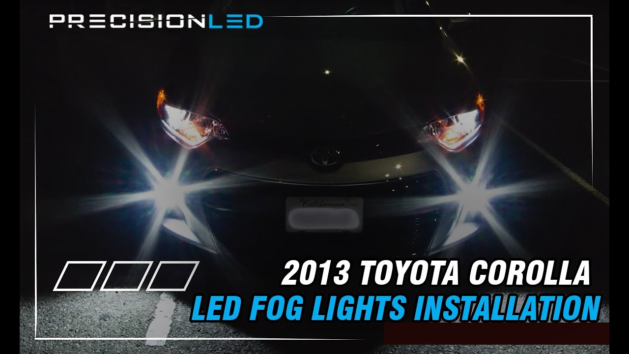 Toyota Corolla Led Fog Lights How To Install 2013 Present Youtube Hook Up