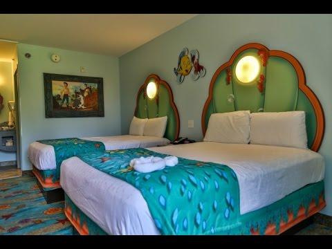 Disneys Art Of Animation Little Mermaid Room Tour Blizzard Beach More
