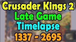 Crusader Kings 2 Late Game Timelapse 1337-2695