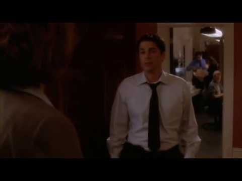 """Sam to CJ: """"I'm Nuts for Dental Hygiene"""" scene –The West Wing S01E15"""