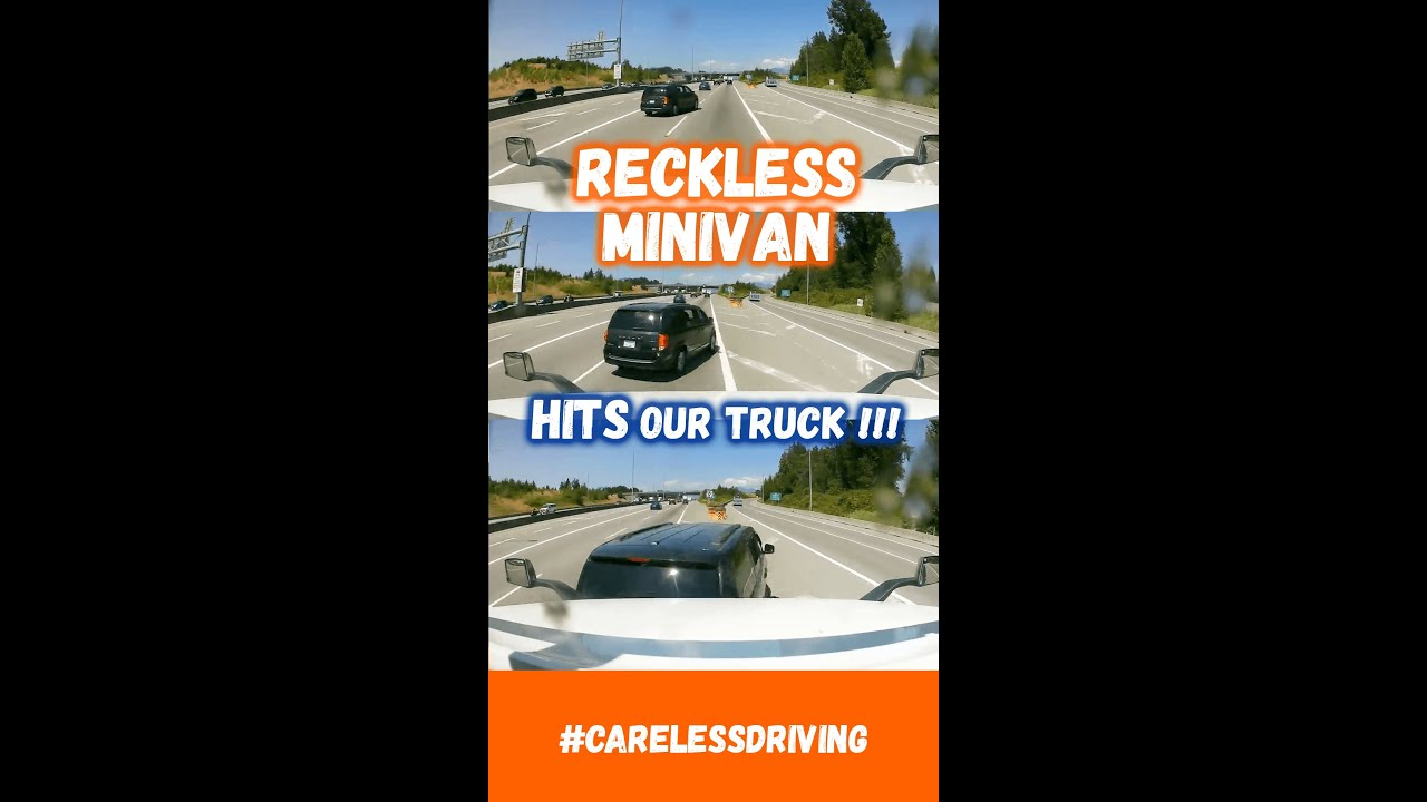 RECKLESS MINIVAN CRASHES INTO OUR TRUCK 😡