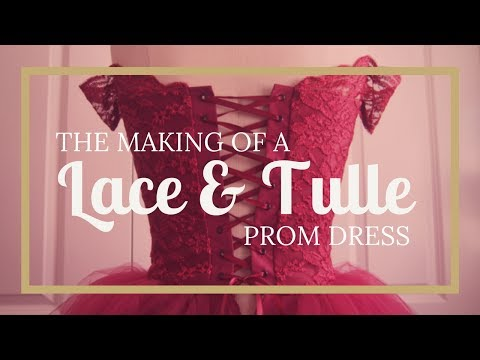 dressmaking:-lace-&-tulle-tutu-prom-dress