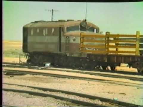 Marree 1982 Transferring rail from Narrow gauge to standard gauge train