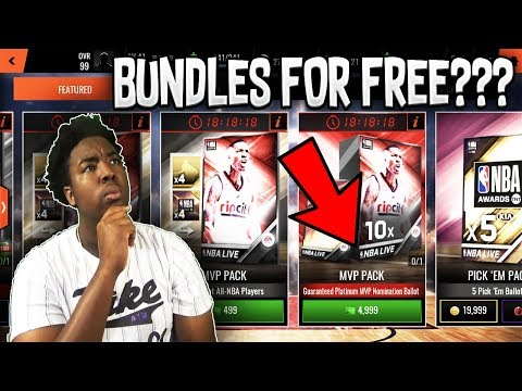 HOW YOU CAN BUY BUNDLES FOR FREE IN NBA LIVE MOBILE 18!!!