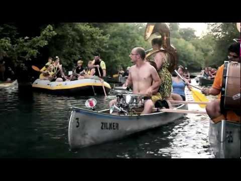 The Minor Mishap Marching Band on Barton Creek