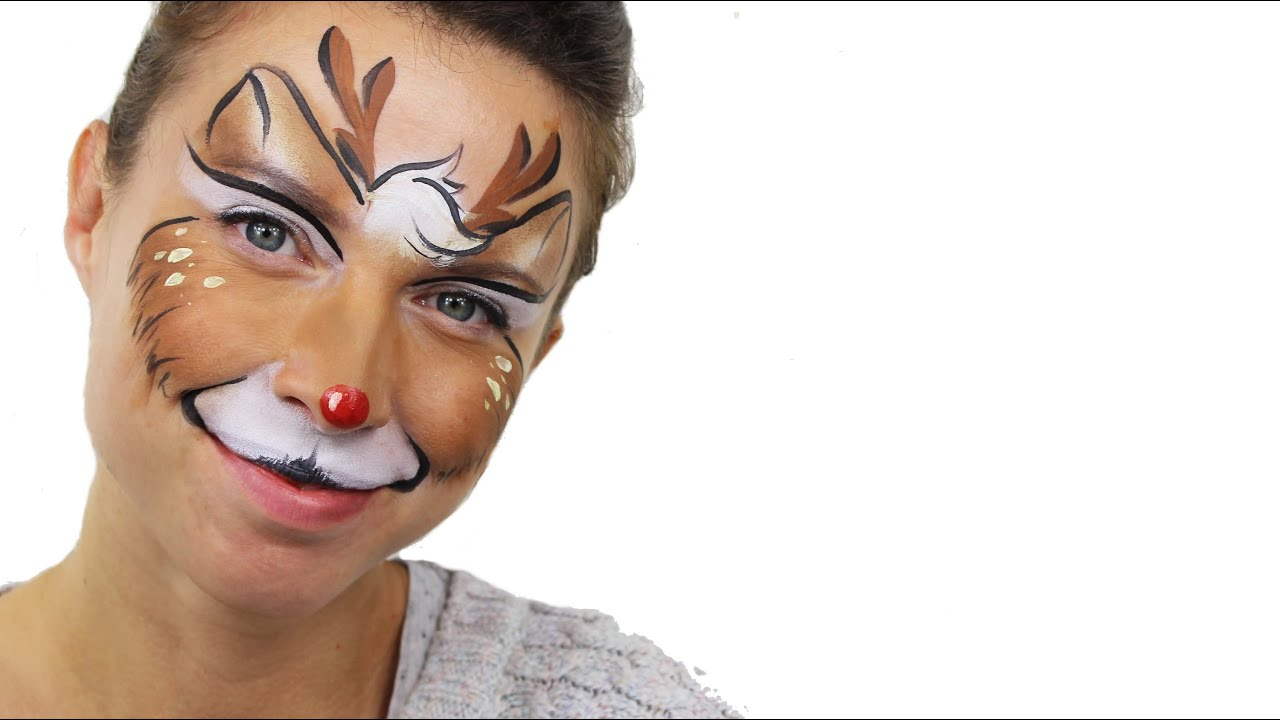 Christmas Face Paint.Christmas Reindeer Face Paint Tutorial Snazaroo