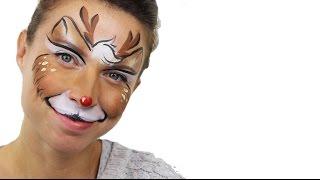 Christmas Reindeer Face Paint Tutorial | Snazaroo