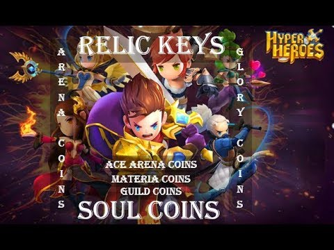 Hyper Heroes: How To Get Soul Coins, Relic Keys & Other Game Coins?