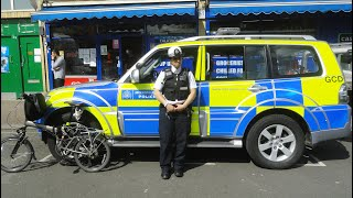 An Interview with a Female London Police Officer and a Look Inside her Car, Queens Crescent, London.