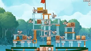 Angry Birds Rio Blossom River Level 7 Mighty Eagle Walkthrough