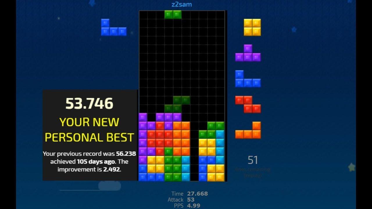 Tetris 100 Lines Race in 53 746 seconds | Jstris #7 Worldwide