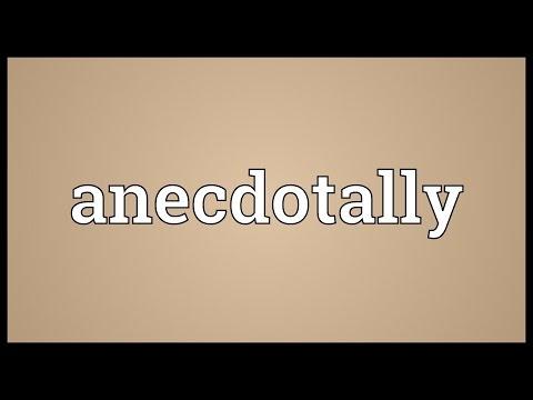 Header of anecdotally