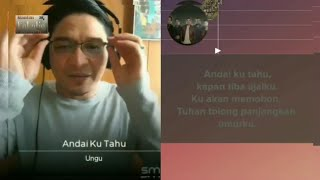 Ungu - Andai ku tahu (video karaoke duet bareng artis) smule cover
