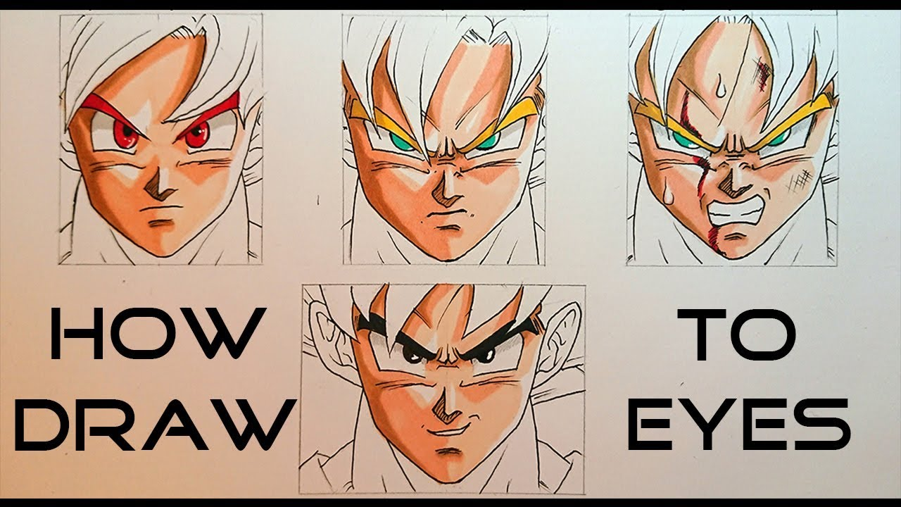 Eyes how to draw dragon ball characters