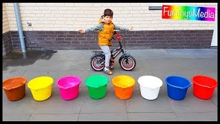 Throwing Game with Buckets for Children