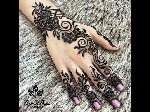 Henna Tangan Menarik Dan Mudah Di Buat Soft Version Youtube
