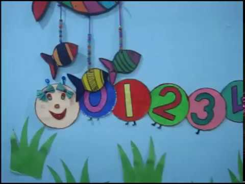 Wall decorating ideas for play group school also youtube rh