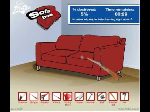 Sofa Bash With A Shotgun By