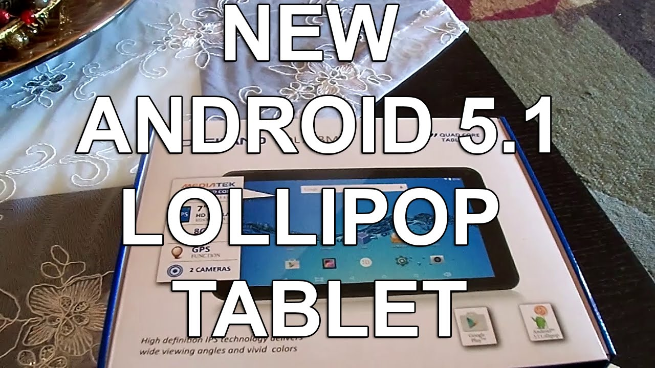 DIGILAND 7` (DL718M) NEW ANDROID 5 1 LOLLIPOP TABLET HD DISPLAY UNBOXING