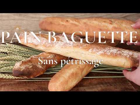 pain-baguette-maison-sans-pétrissage-et-sans-robot-👌😋😋