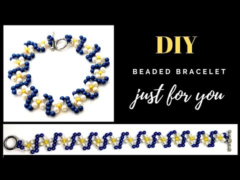 Beading for Beginners. easy beading tutorial. Beaded Bracelet