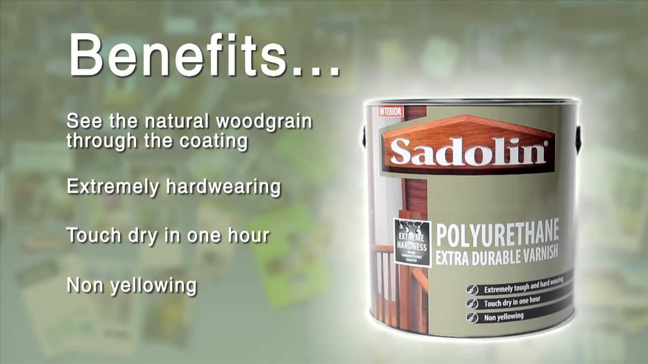 Sadolin Polyurethane Extra Durable Varnish YouTube