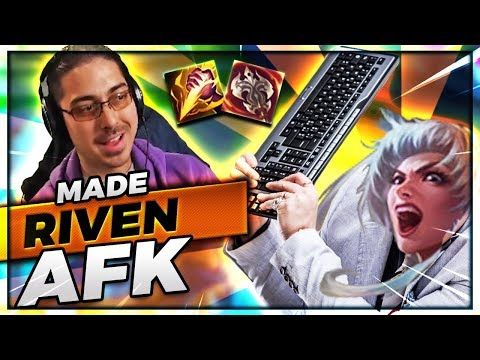 HOW TO MAKE A RIVEN AFK! | DOTDYR + SMITE TOP - Trick2G