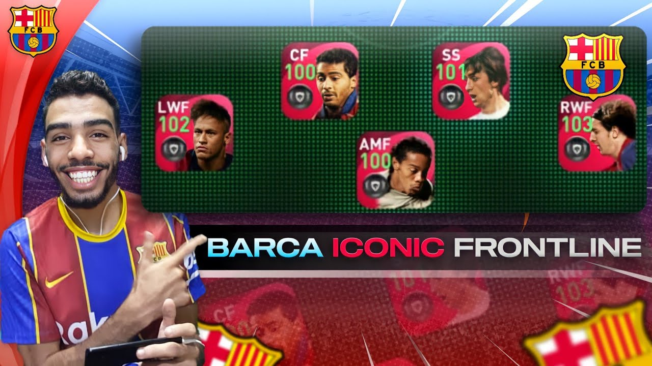 THE ICONIC BARCELONA's ATTACKING LINE 🔥 EFootball pes 2021