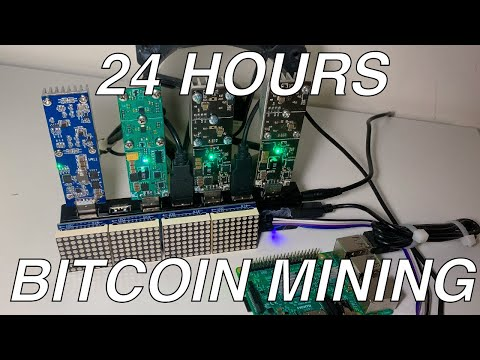 24 Hours Of Bitcoin Mining With 3 X GekkoScience USB Miners On My Raspberry Pi Mining Rig!! WOW