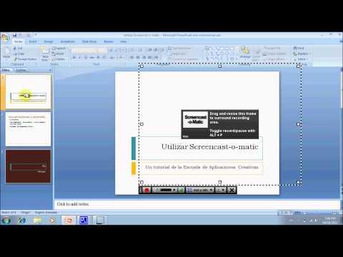 Cómo hacer una presentación narrada utilizando Screencast-o-Matic y PowerPoint