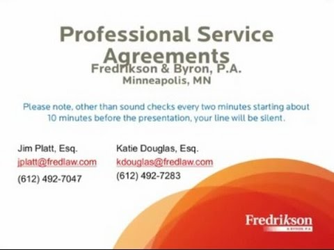 Professional Services Agreements: Best Practices and Implementation