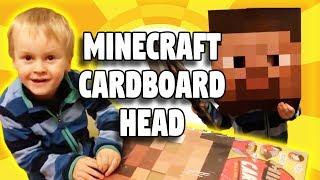 Minecraft Cardboard Head beim Spielzeugtester Julian